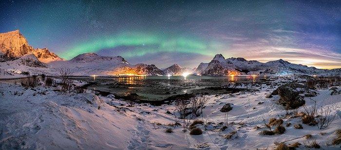 aurora polar kp2 islas lofoten