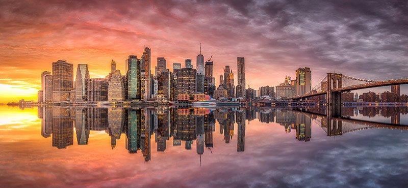 nueva york skyline puente de brooklyn