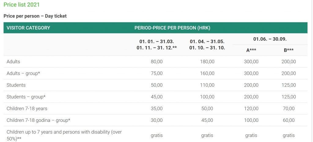 precios plitvice