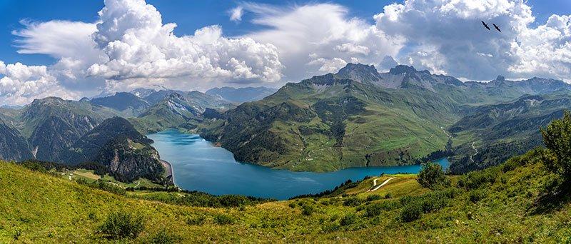 lago roselend alpes franceses