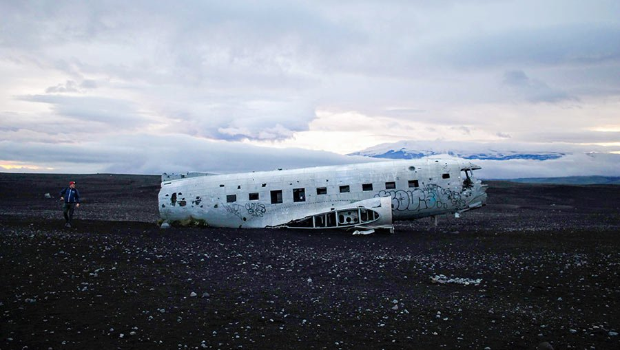 Solheimasandur avion islandia