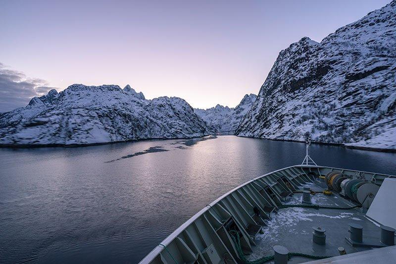 Trollfjord o fiordo del troll, islas lofoten que ver en noruega