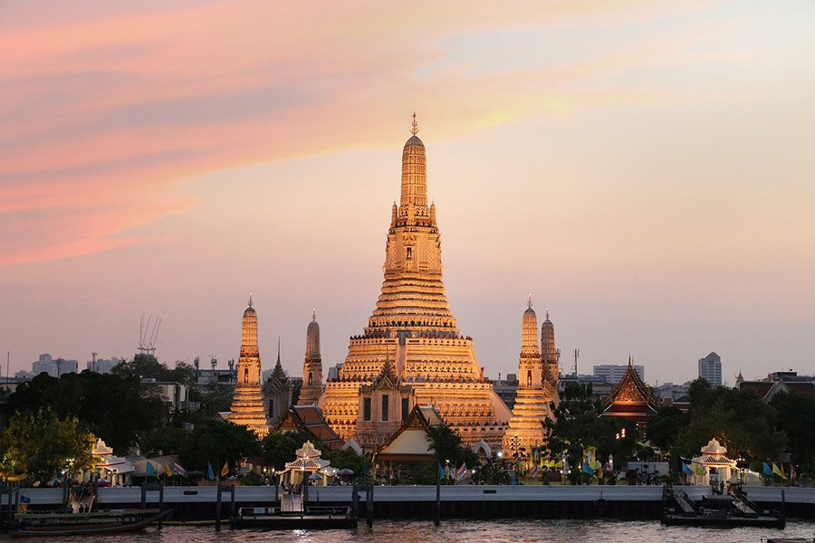 wat arun templo en bangkok tailandia
