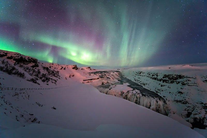 aurora boreal gulfoss