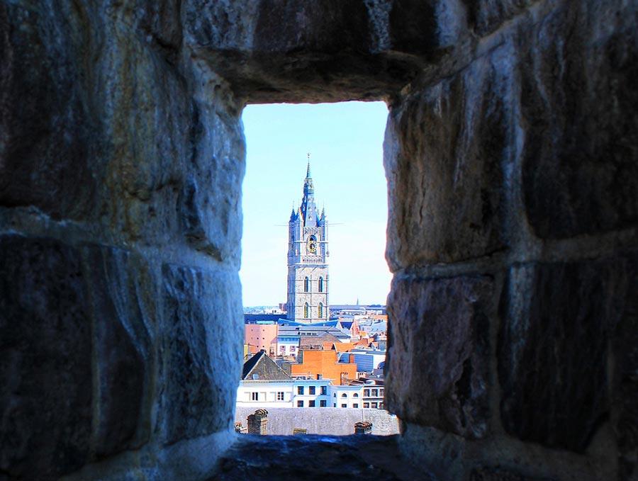 Torre del campanario belfort Gante