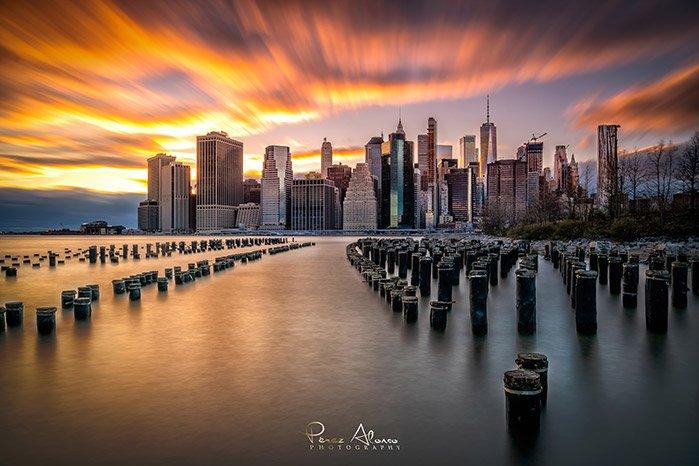 old pier nueva york skyline