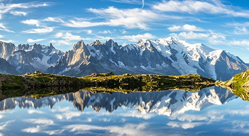 lago de cheserys o lac de cheserys, chamonix y alpes franceses