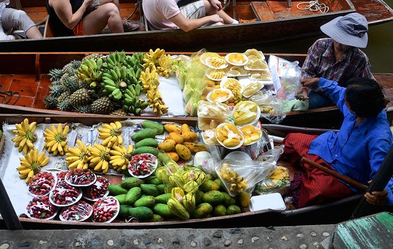 mercado callejero comer tailandia