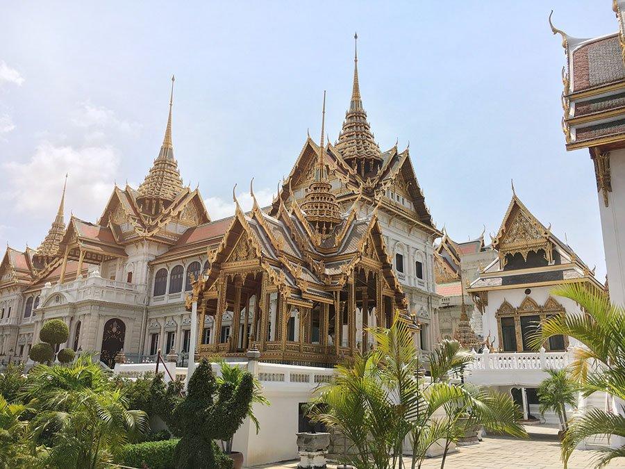 gran palacio de Bangkok y wat phra en Tailandia