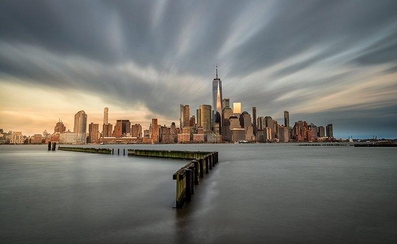 skyline nueva york desde nueva jersey