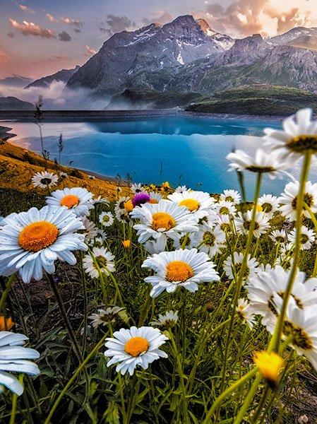 lago mont cenis, alpes franceses