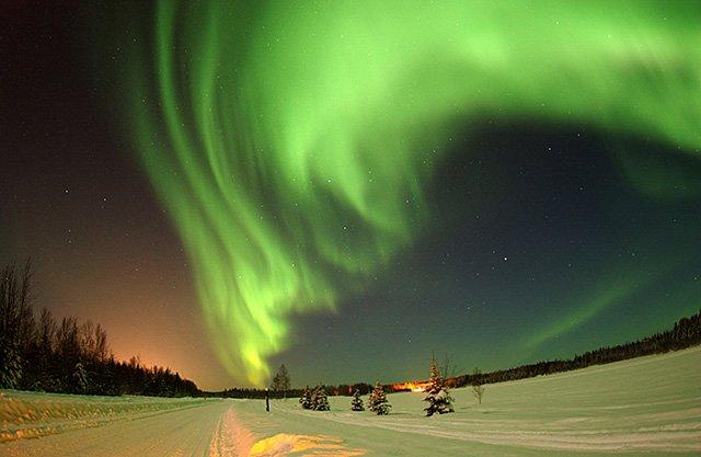verde aurora polar