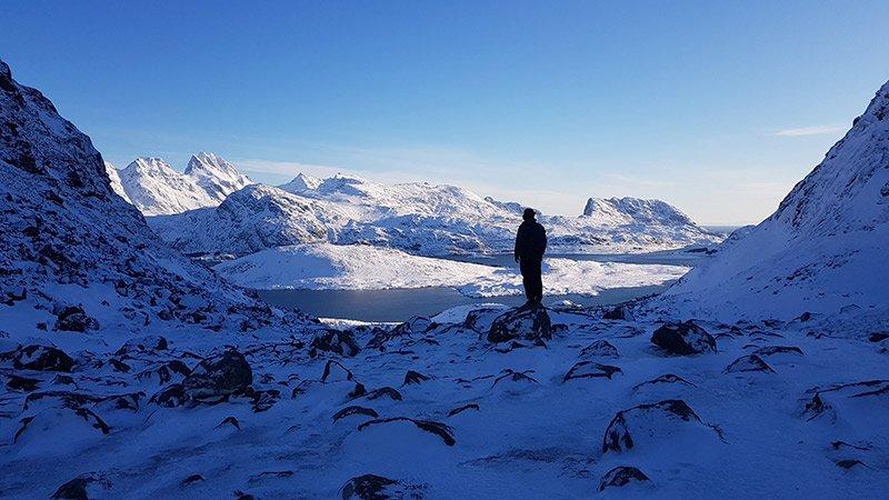 nieve en el artico noruega
