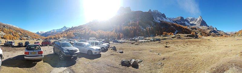 aparcamiento valle de la claree