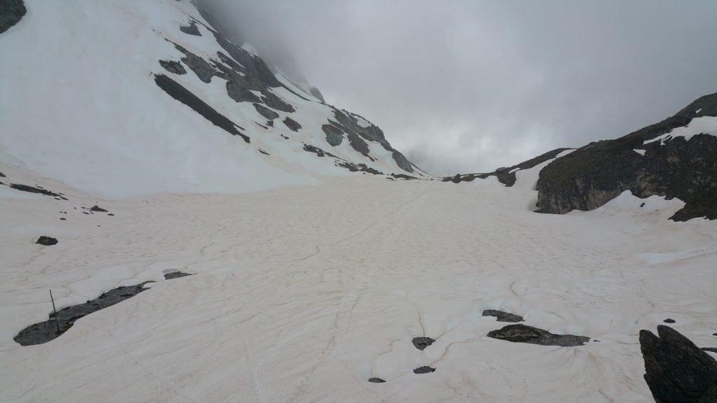 Lac des vaches cubierto de nieve
