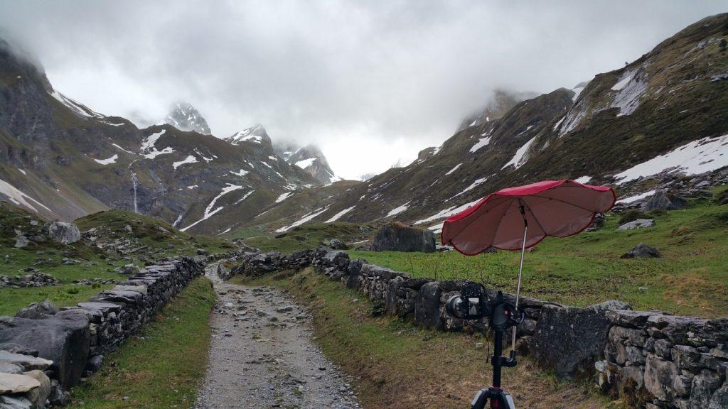 Subida lago de las vacas parque nacional de la vanoise