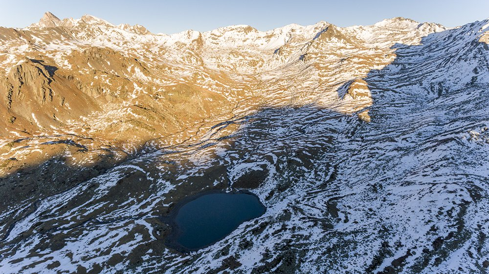 Lago Long desde un dron